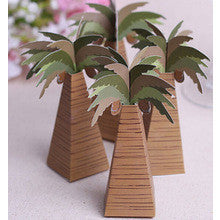 100 pieces coconut palm tree chocolate boxes - Wedding Favours Wellington
