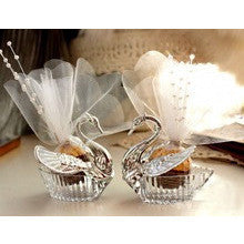50 pieces swan wedding favour with accessories
