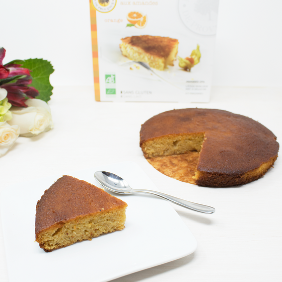 Almonds Orange Gluten-Free Organic French Cake Gateau