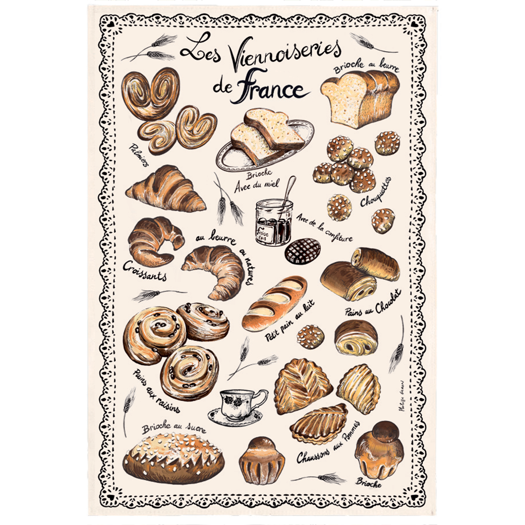 French Pastries Kitchen Towel