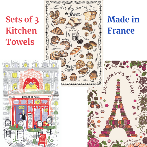 Assortment of 3 French Kitchen Towels