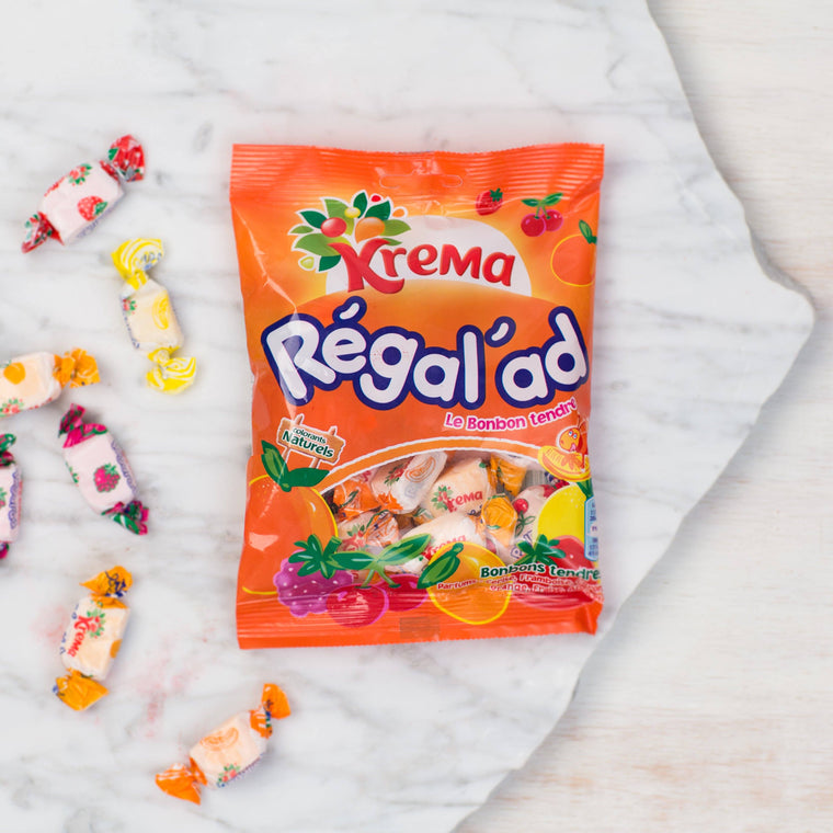 Krema Regalad Bonbons - Chewy Fruit Candies from France