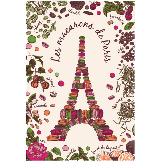 Macarons & Eiffel Kitchen Towel