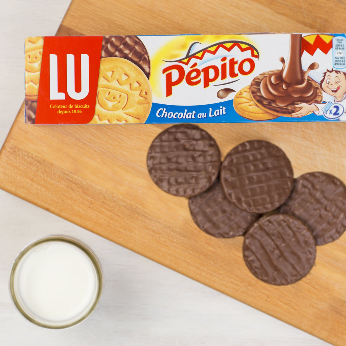 Pepito Chocolat au Lait - Milk Chocolate Shortbread Cookies