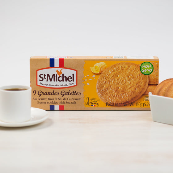 St Michel Galettes au Beurre et Sel de Guerande - Traditional Butter Cookies with Sea Salt