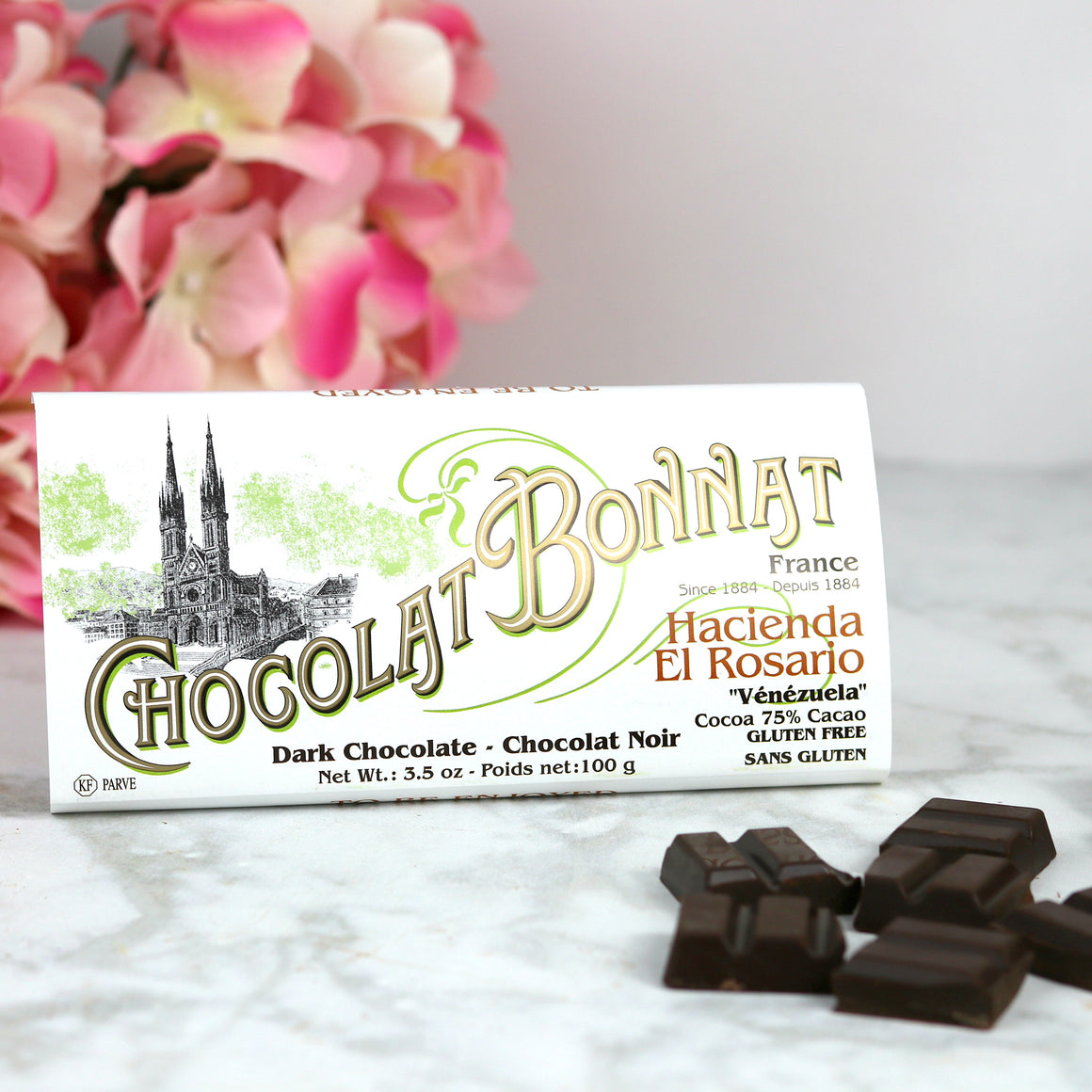 Single Origin French Dark Chocolate Bonnat from Venezuela