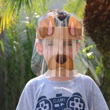 MÁSCARA FACE SHIELD INFANTIL - MODELO CACHORRINHO