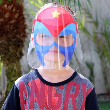 Máscara Face Shield Infantil - Modelo Super Herói