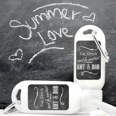 Chalkboard Personalized Sunscreen with Carabiner (SPF 30)