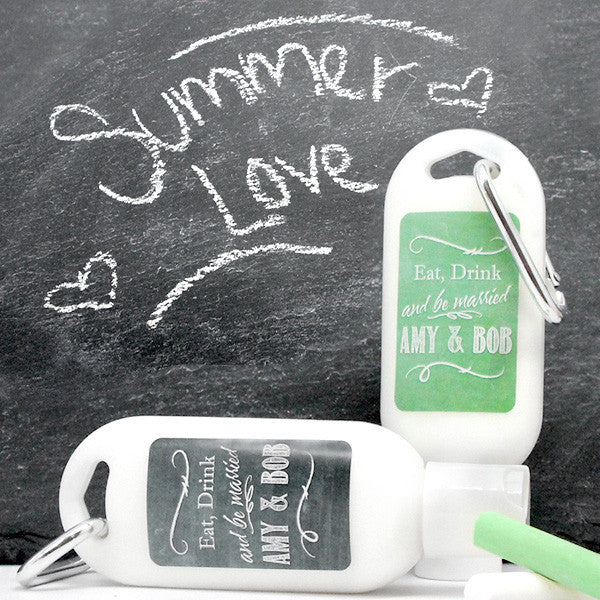 Personalized Sunscreen with Carabiner (SPF 30) - Silhouette Collection