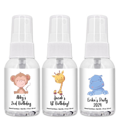 Personalized Hand Sanitizer Favors, Baby Shower Favors, Travel Size 1 oz Bottle (Set of 12)