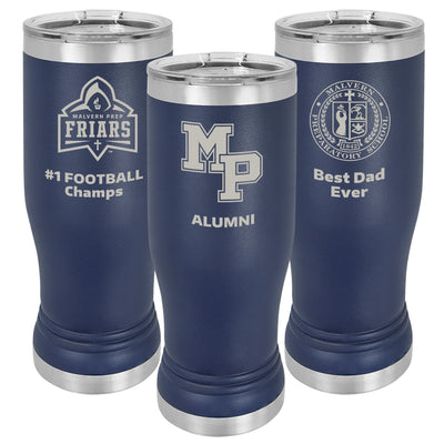 MP 14 oz. Personalized Navy Blue Insulated Tumbler with Clear Lid