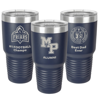 MP Large 30 oz. Personalized Navy Blue Insulated Tumbler with Clear Lid