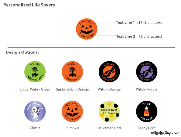 Personalized Halloween Life Savers