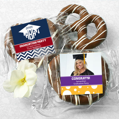 Graduation Gourmet Chocolate Pretzels