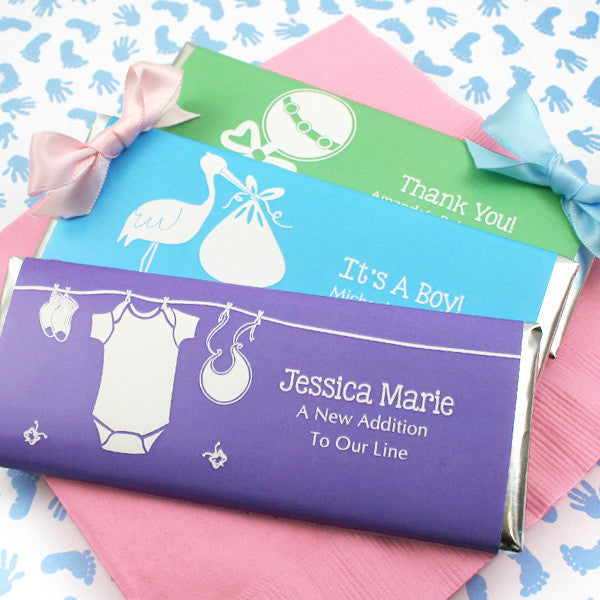Personalized Baby Shower Hershey Bars - Silhouette Collection
