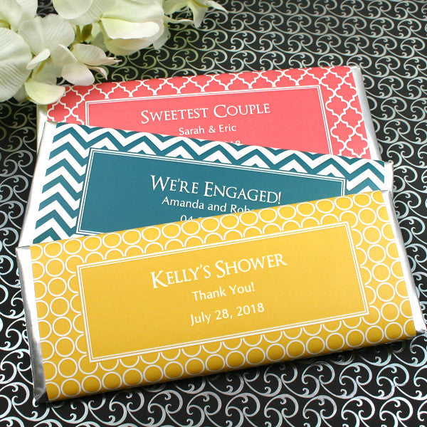 Personalized Wedding Hershey Bars - Silhouette Collection
