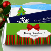 Personalized Christmas Holiday Hershey Bars