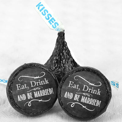 Chalkboard Hershey Kisses Wedding Favors