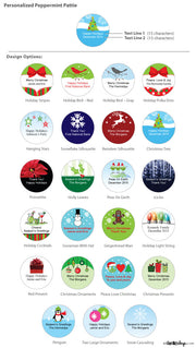 Personalized Christmas Holiday York Peppermint Patties Labels