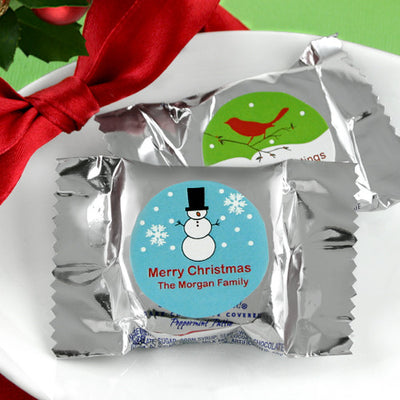 Personalized Christmas Holiday York Peppermint Patties
