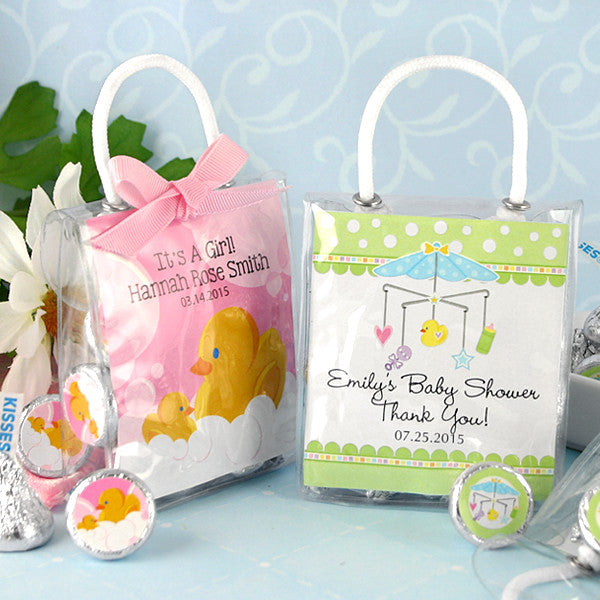 Hershey Kisses Baby Shower Gift Tote Favors