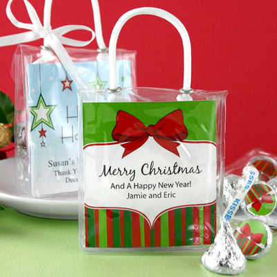 Christmas Hershey Kisses Gift Tote