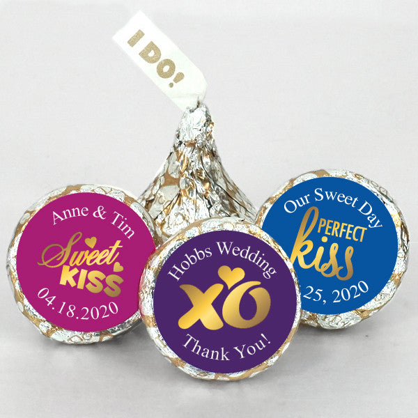 "Personalized ""I DO"" Hershey Kisses"