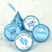 "Personalized ""It's A Boy"" Blue Hershey Kisses, blue hershey kisses"