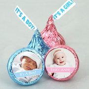 """It's A Girl"" ""It's A Boy"" Hershey Kisses Baby Shower Favors"