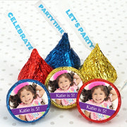 Photo Hershey Kisses Birthday Party Favors, blue hershey kisses, blue hershey kisses
