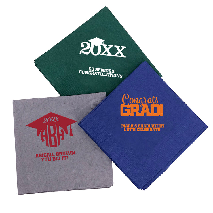 Graduation Beverage Napkins (Set of 50)