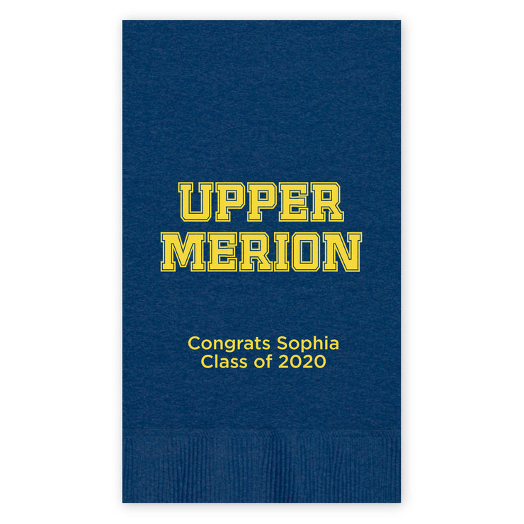 Upper Merion SD Custom Guest Towel Napkins (Set of 50)
