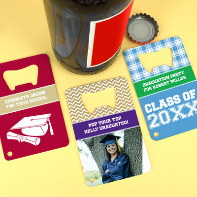 Graduation Stainless Steel Credit Card Bottle Openers