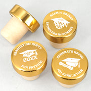 Graduation Gold Aluminum Top Bottle Stopper