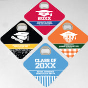 Graduation Bottle Opener Coasters