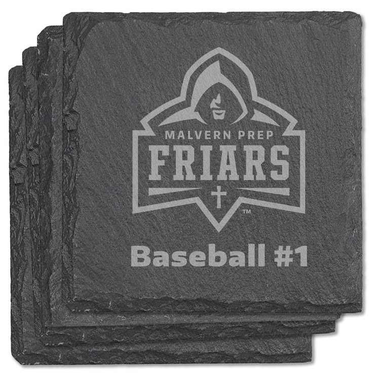 Malvern Custom Square Slate Coasters (Set of 4)