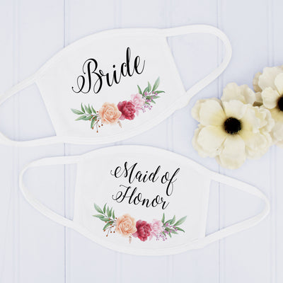 Wedding Party Face Masks, Bridal Party Masks, USA Made