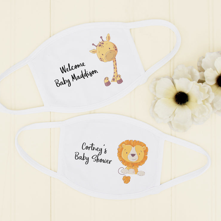 Baby Shower Masks, Baby Shower Animal Theme Mask, Made in USA