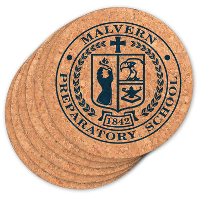 Malvern Seal Round Cork Coasters (Set of 6)