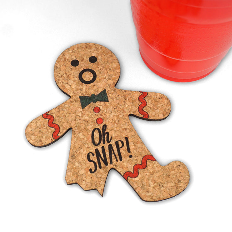 Gingerbread Decor Coasters, Oh Snap! - Set of 4