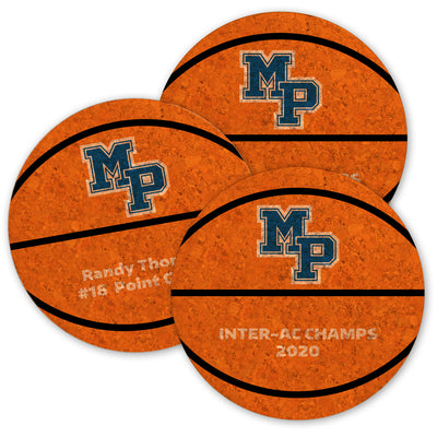 MP Basketball Cork Coasters (Set of 6)