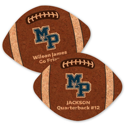 MP Football Cork Coasters (Set of 6)