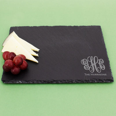 Monogram Rectangle Slate Serving Tray Cheese Board