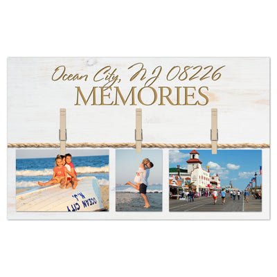 "Personalized ""Memories"" Wood Photo Sign"
