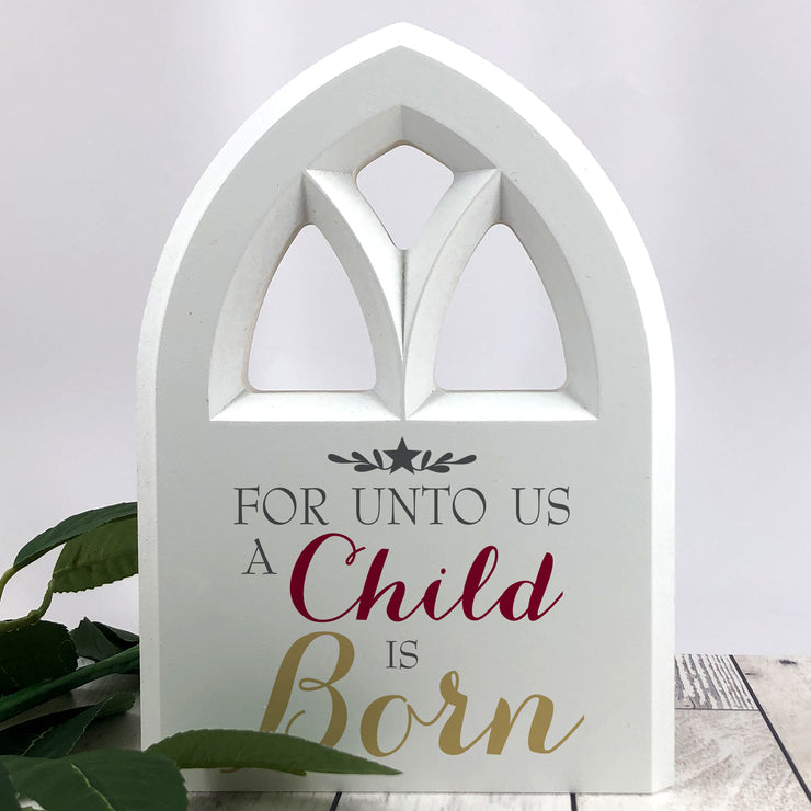 Chapel Shaped Christmas Decor, A Star is Born, O Come Let Us Adore Him, Star of Wonder, Wood Signs