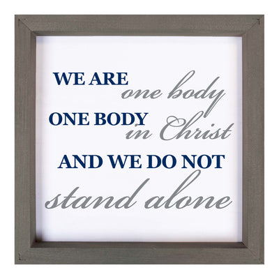 """We Are One Body"" Wood Sign"