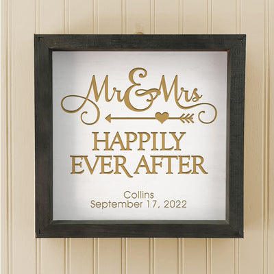 Mr. & Mrs. Happily Ever After Wall or Table Decor