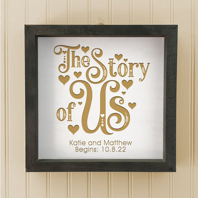 The Story of Us Home Wall or Table Decor
