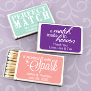 """Perfect Match"" Personalized Matches (Set of 50)"